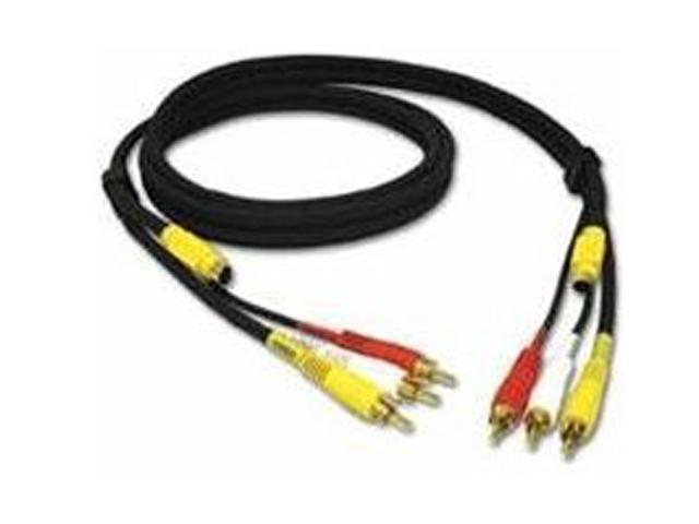 C2G Model 29153 6 ft. Value Series 4-in-1 RCA + S-Video Cable M-M