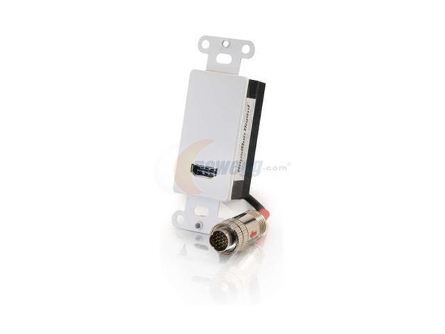 C2G 42419 RapidRun Digital HDMI Passive Wall Plate - White