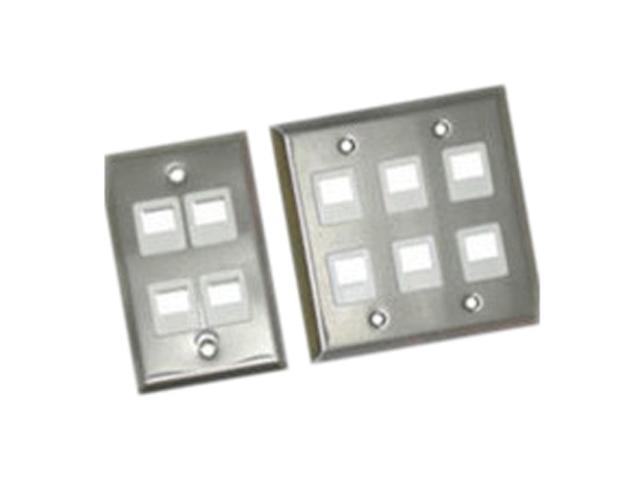 C2G 37093 1-Port Single Gang Multimedia Keystone Wall Plate