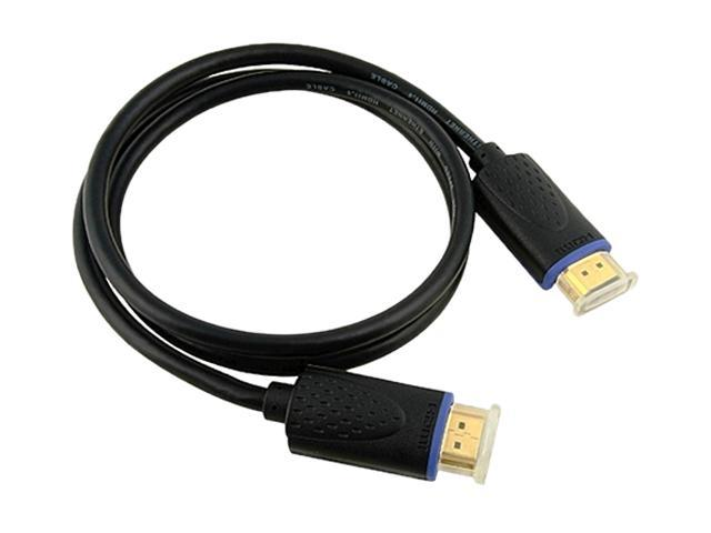 Insten 675390 3 ft. Black 2X High Speed HDMI Cable with Ethernet M/M