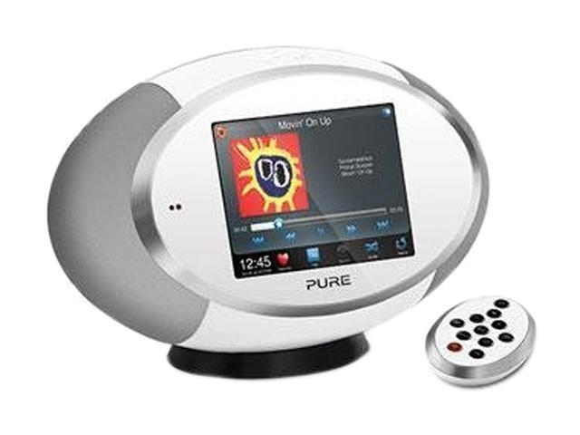 Pure Sensia 200D Connect Portable Music Streaming and Radio System, White VL-61796