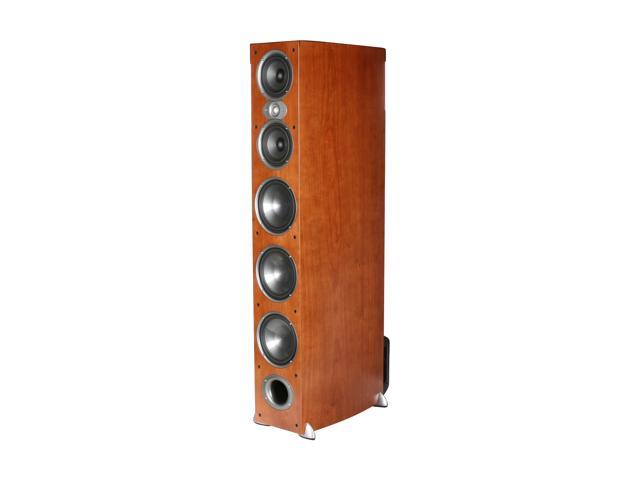 Polk Audio RTi A9 Cherry High Performance Floorstanding Loudspeakers with three 7-inch bass drivers, two 5.25 inch midrange drivers and a 1-inch ...