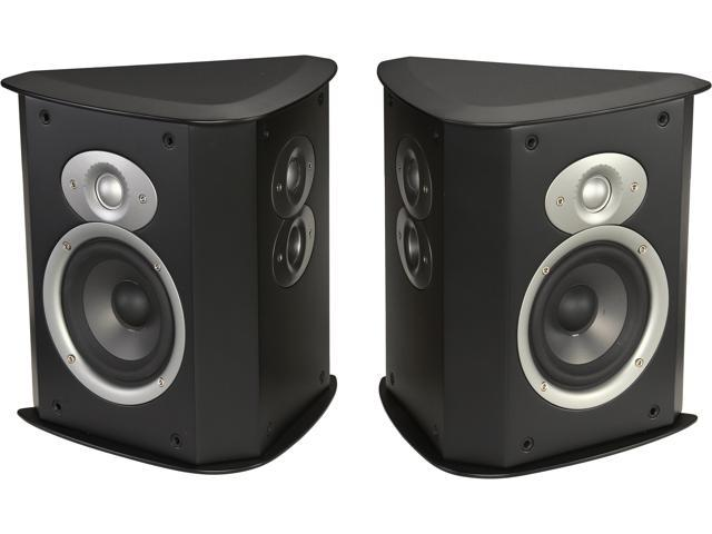 Polk Audio FXI A4-Black High Performance Surround Speaker Pair