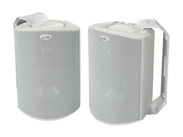 Polk Audio Atrium 4 Compact Indoor/Outdoor Speaker White Pair