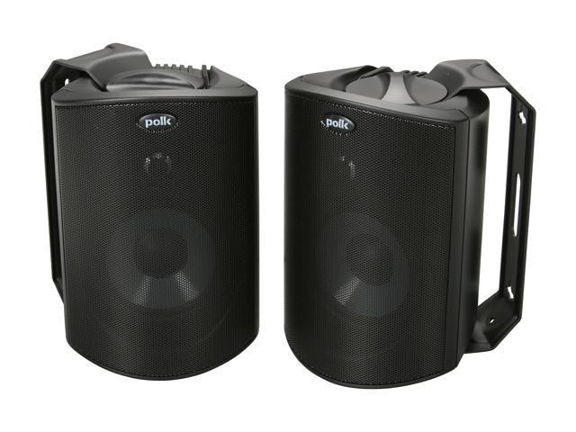 Polk Audio Atrium 4 Compact Indoor/Outdoor Speaker Black Pair