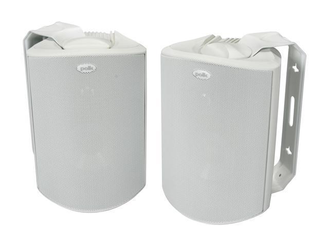 Polk Audio Atrium5 Compact Indoor/Outdoor Speaker White Pair