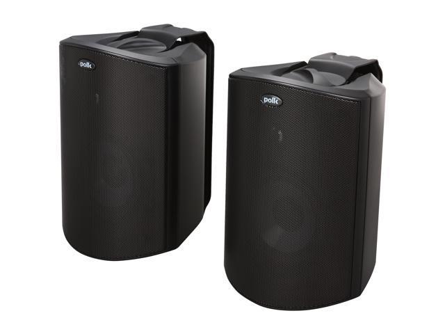 Polk Audio Atrium5 Compact Indoor/Outdoor Speaker Black Pair