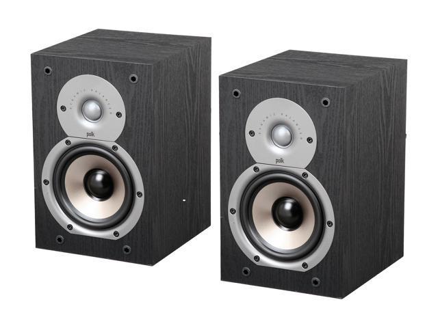 Polk Audio Monitor Series New Monitor 35B Compact Bookshelf Loudspeaker (Black) Pair