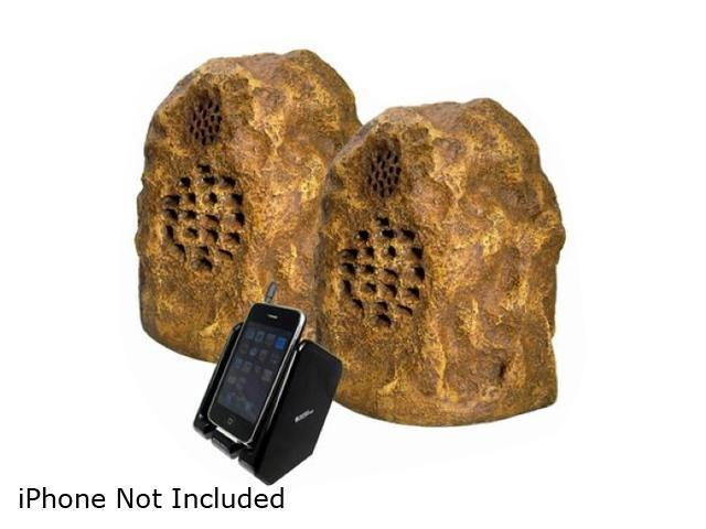 Audio Unlimited SPK-ROCK-DUO3 900MHz Sandstone Wireless Rock Speaker Pair