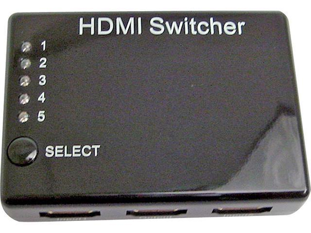 Calrad 40-993 5 x 1 HDMI Switcher with IR receiver
