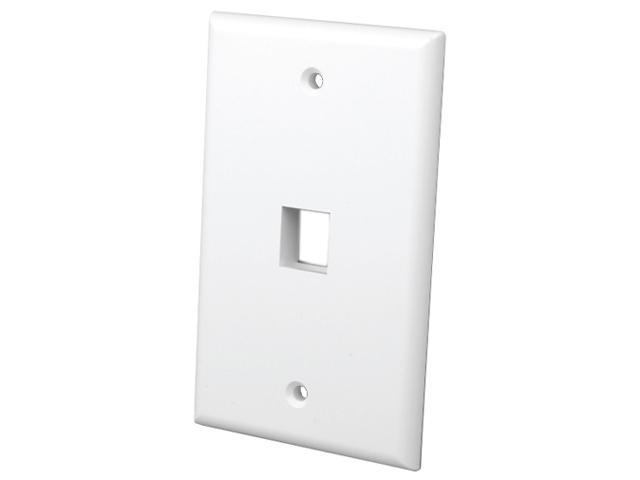Vanco 820101 1 Port White Multi-Media Keystone Wall Plates
