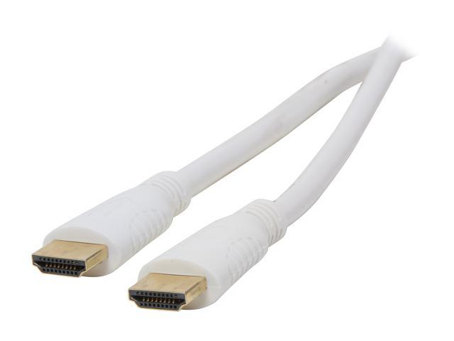 AMC HDM-HDM-HSE2528WT 25 ft. Hyper Series High Speed HDMI Cable with Ethernet Gold Plated Connector - OEM