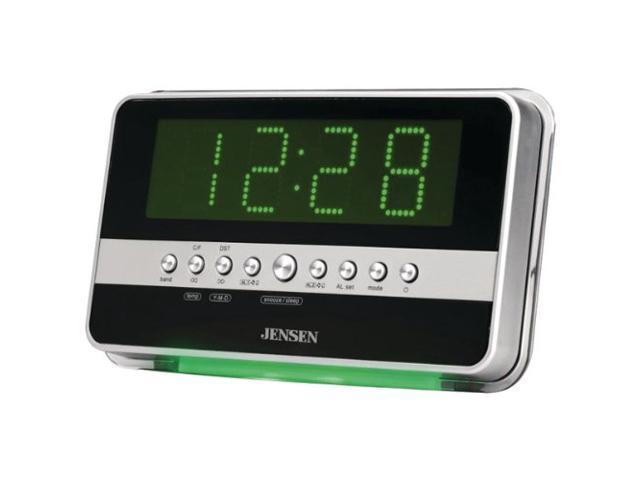 Jensen JCR-275 AM/FM Dual Alarm Clock Radio With Wave Sensor