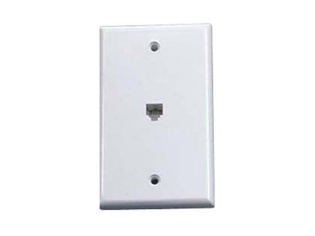 Steren 300-204WH Standard 4C Telephone Wall Plate - White