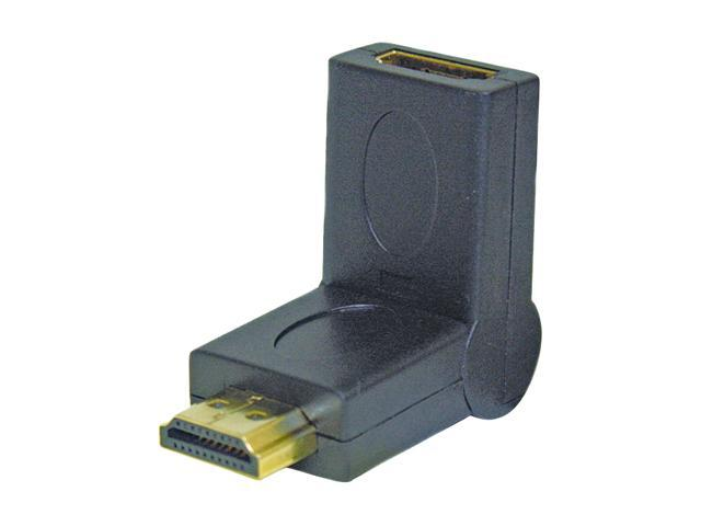 Steren BL-528-002 Right-Angle 180º Adjustable HDMI Adapter