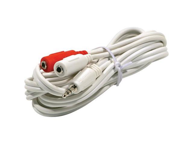 STEREN 252-006WH 6 ft. Audio Y-Cable