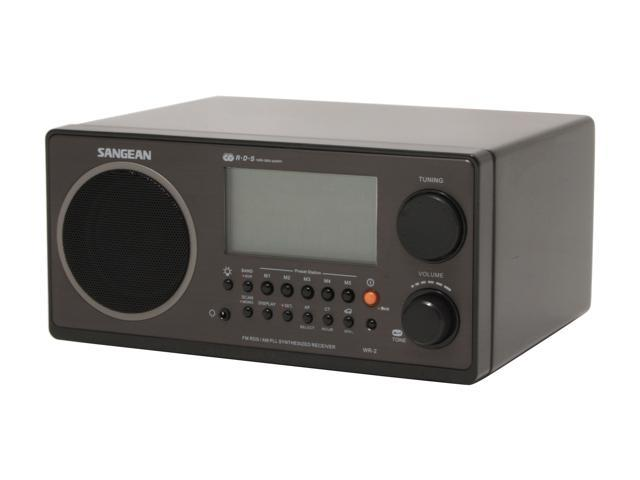 Sangean Digital AM/FM Wooden Cabinet Table-Top Radio WR-2 Black