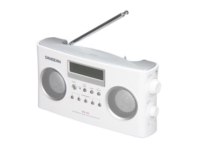 Sangean FM-Stereo RBDS/AM Digital Tuning Portable Stereo Radio (White) PR-D5 White