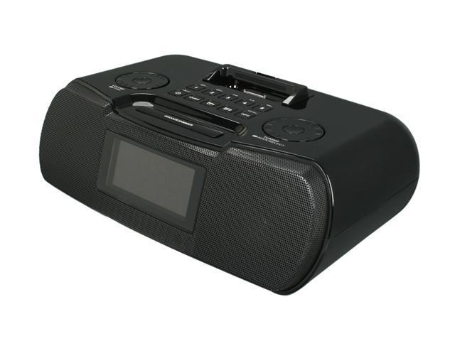 Sangean AM / FM-RBDS Digital Tuning Stereo Atomic Clock Radio with iPod Dock RCR-10 BL