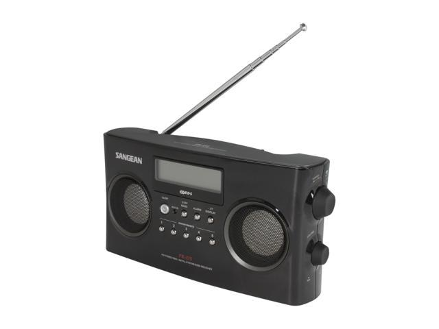 Sangean FM-Stereo RBDS/AM Digital Tuning Portable Stereo Radio (Black) PR-D5
