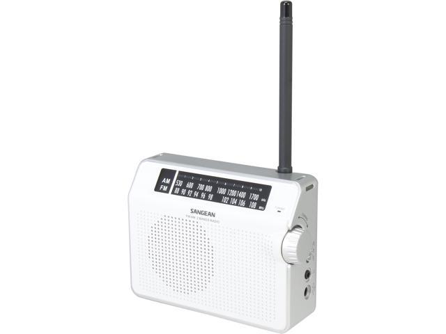 Sangean FM / AM Compact Analogue Tuning Portable Receiver (White) PR-D6WH