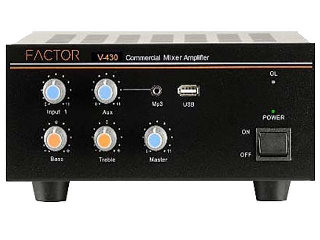 Factor V430 Mixer Amplifier 25-70 Volt 4 Input