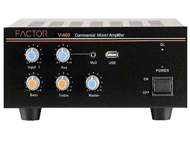 Factor V460 60W Mixer Amplifier 25-70 Volt 4 Input
