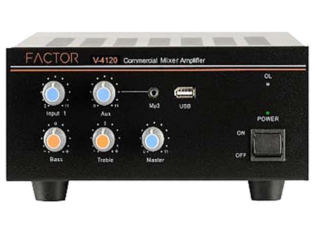 Factor V4120 120W Mixer Amplifier 70 Volt 4 Input