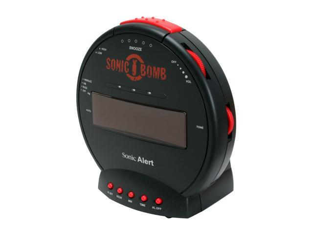 Sonic Alert SBB500ss Alarm Clock with Powerful Bed Shaker
