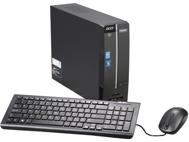 Acer AXC-603-UR2D Desktop PCPentium J2900 (2.41GHz) 4GB DDR3 500GB HDD Windows 7 Professional 64-Bit