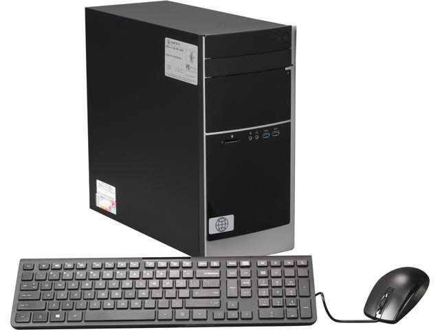 HP Pavilion 500-200 Mini Tower Desktop PC with Intel Core i3-4130 3.40Ghz, 4GB DDR3 RAM, 1TB HDD, DVDRW LightScribe, SD Card Reader, Windows 8 ...
