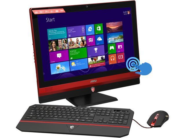MSI All-in-One PC Gaming 24GE 2QE 4K-002US Intel Core i7 4720HQ (2.60GHz) 16GB DDR3 1TB HDD 128GB SSD 23.6