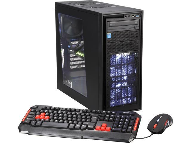 iBUYPOWER Source Series NE784K Desktop PC Intel Core i7 5820K (3.30GHz) 16GB DDR4 1TB HDD 120GB SSD Windows 8.1 64-Bit