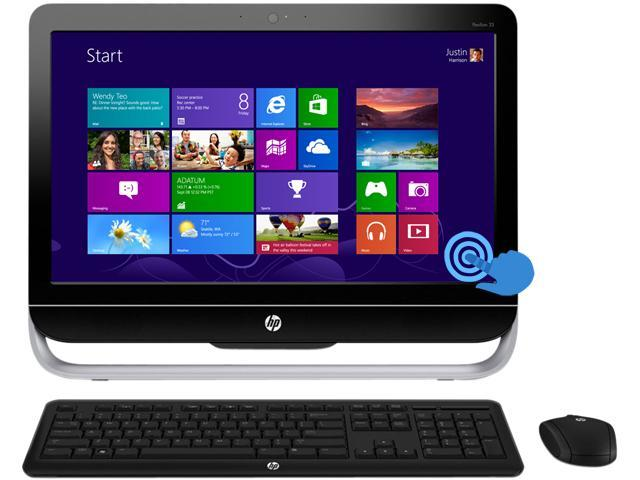 "HP Pavilion 23-f261 TouchSmart 23"" FULL HD Touchscreen All-in-One Desktop PC with Quad Core AMD A6-5200 2.0Ghz, 4GB DDR3 RAM, 1TB HDD, SuperMulti ..."