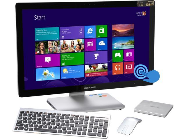 Lenovo All-in-One PC A740 (F0AM004JUS) Intel Core i7 4558U (2.80GHz) 8GB DDR3 1TB HDD 8GB SSD 27