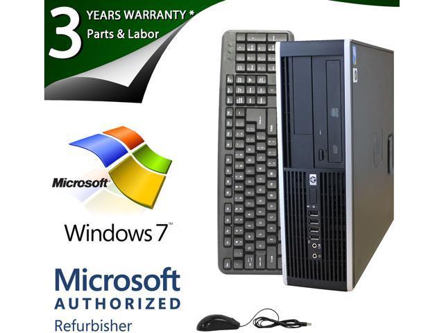 HP 6000 Pro Desktop PC Intel Pentium Dual Core E6500 (2.93GHz), 2GB Memory, 80GB HDD Storage, DVDROM, DisplayPort Windows 7 Professional 64 Bit