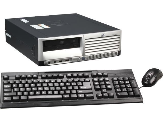 HP Compaq DC7600 Small Form Factor Desktop PC Intel Pentium 4 3.0Ghz 2GB RAM 160GB HDD DVDROM Windows 7 Home Premium 32 Bit
