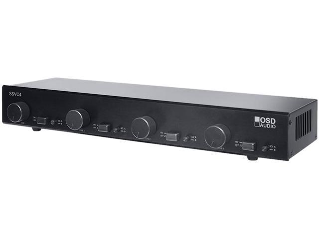 OSD Audio SSVC4 4-Zone Dual Source Speaker Selector with Volume Control