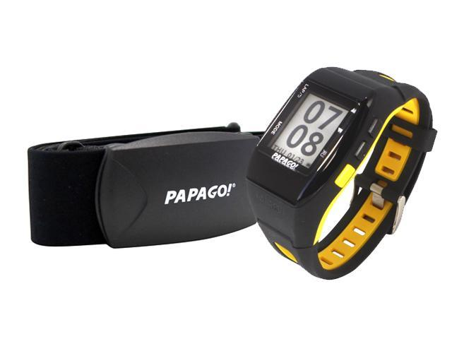 PAPAGO GLW-HB-US GPS Multi-Sports Watch with ANT+™ Heart Rate Monitor Yellow