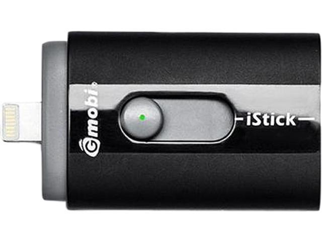 iStick IS032-BLACK Black 32GB USB Flash Drive with Apple MFi Lightning Connector. Made for iPhone and iPad.