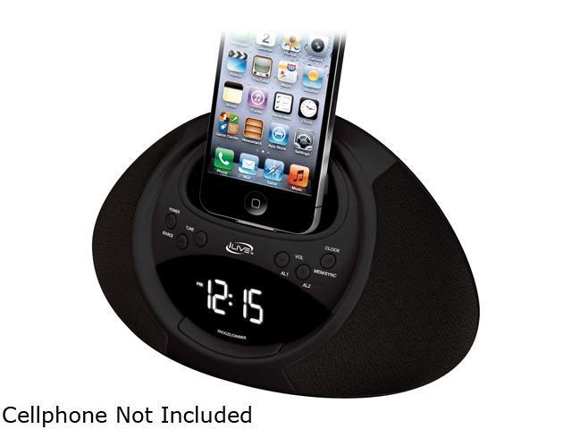 iLive Clock Radio with Dock for iPhone/iPod with 30-Pin ConnectorICP122B