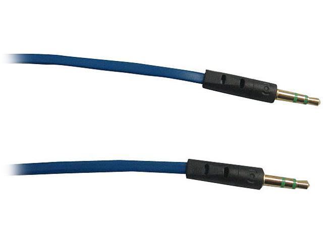 AWA Technology Inc. CB-10035MMBD ROCKSOUL 3.5mm to 3.5mm stereo audio cable Dark Blue