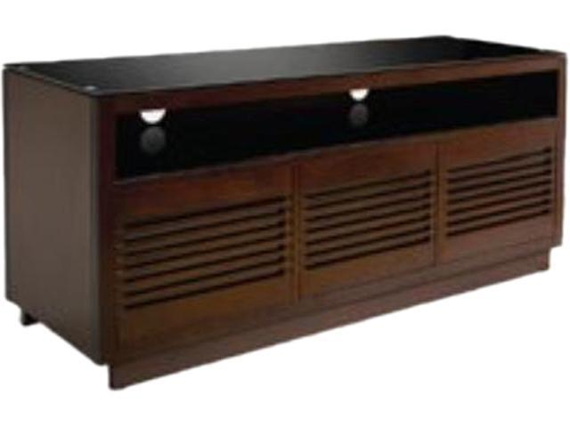 Bell'O WMFC602 Up to 70 inches Contemp Wood AV Cabinet Choc