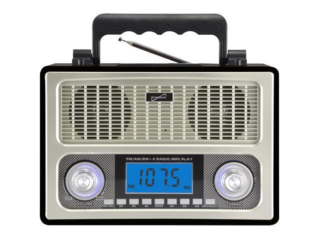 SUPERSONIC 10 Band AM FM Shortwave Radio SC-1098BLK
