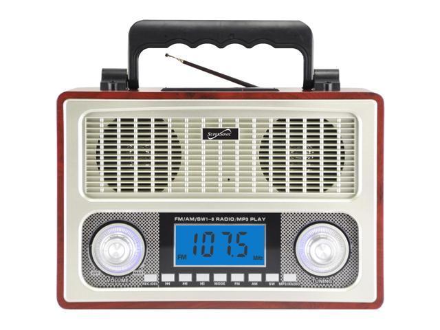 SUPERSONIC 10 Band AM FM Shortwave Radio SC-1098WOOD