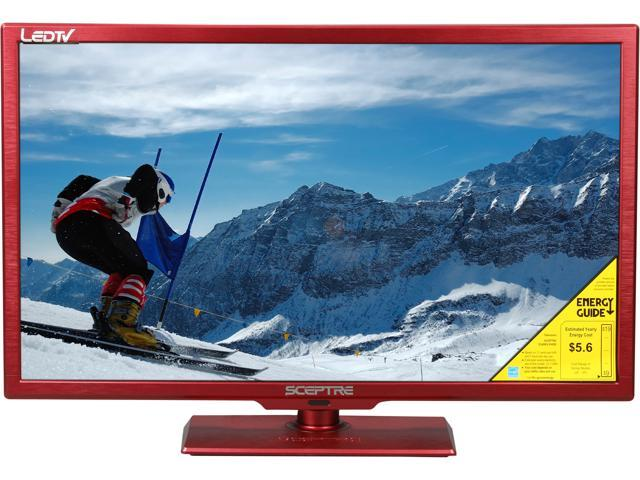 "Sceptre E245RV-FHDR Red 24"" 1080p 60Hz LED HDTV"