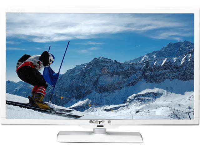 """Sceptre E245WV-FHDR White 24"""" 1080p 60Hz LED HDTV"""