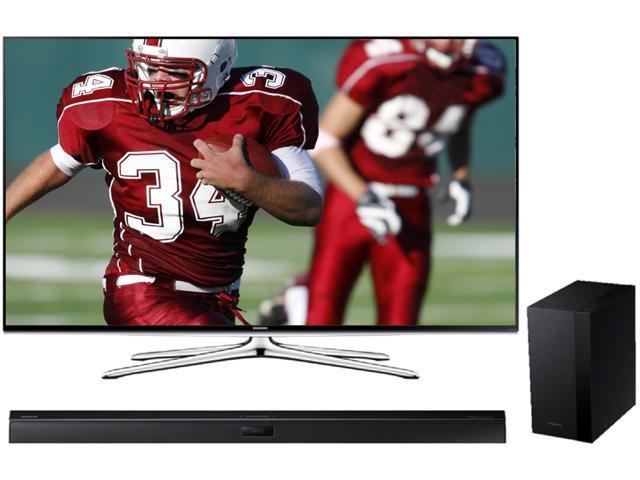 """Samsung UN55H6350 55"""" Class 1080p 120Hz Smart LED HDTV w/ Samsung HWH450 2.1 Wireless Audio Sound Bar Bundle"""
