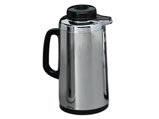 Hormel Vacuum Glass Lined Mirror Finish Stainless Steel Carafe, 1-Liter Capacity