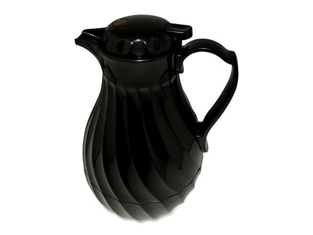 Hormel Poly Lined Carafe, Swirl Design, 40 oz. Capacity, White